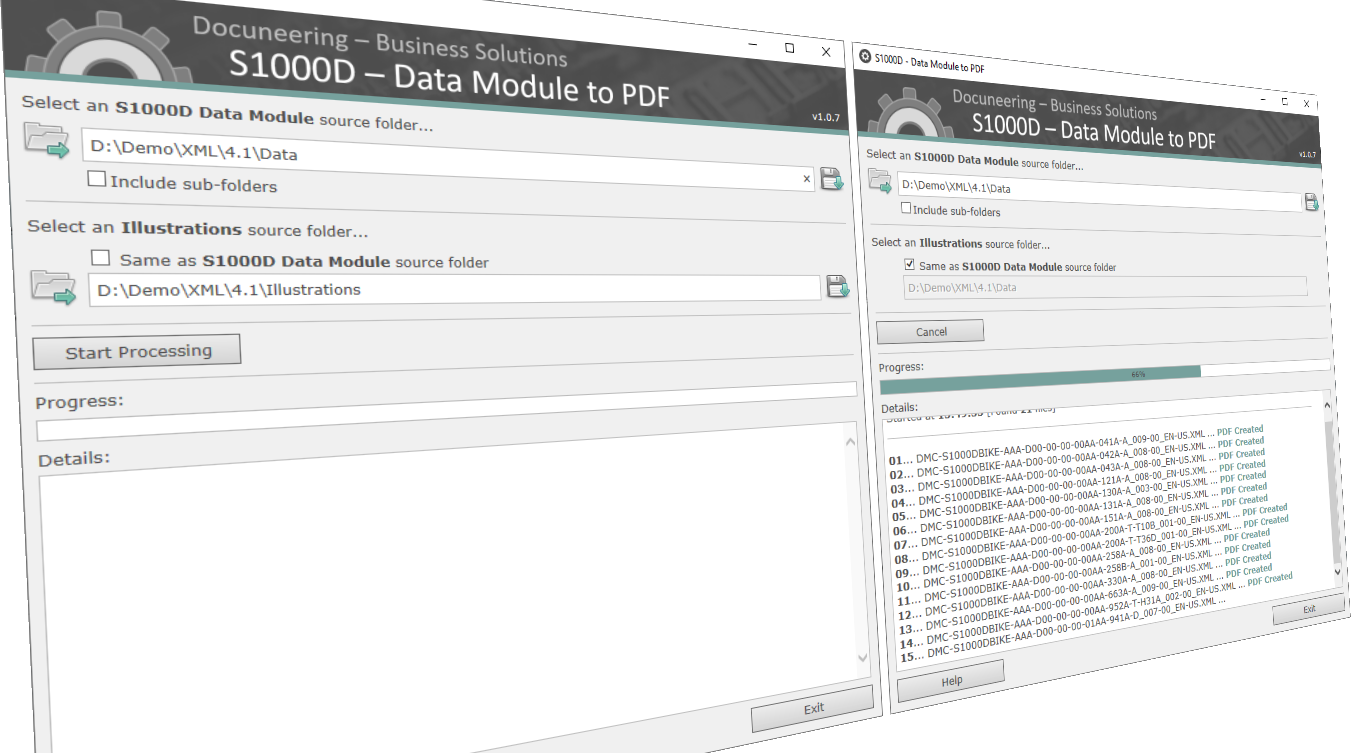 Docuneering S1000D - Data Module to PDF