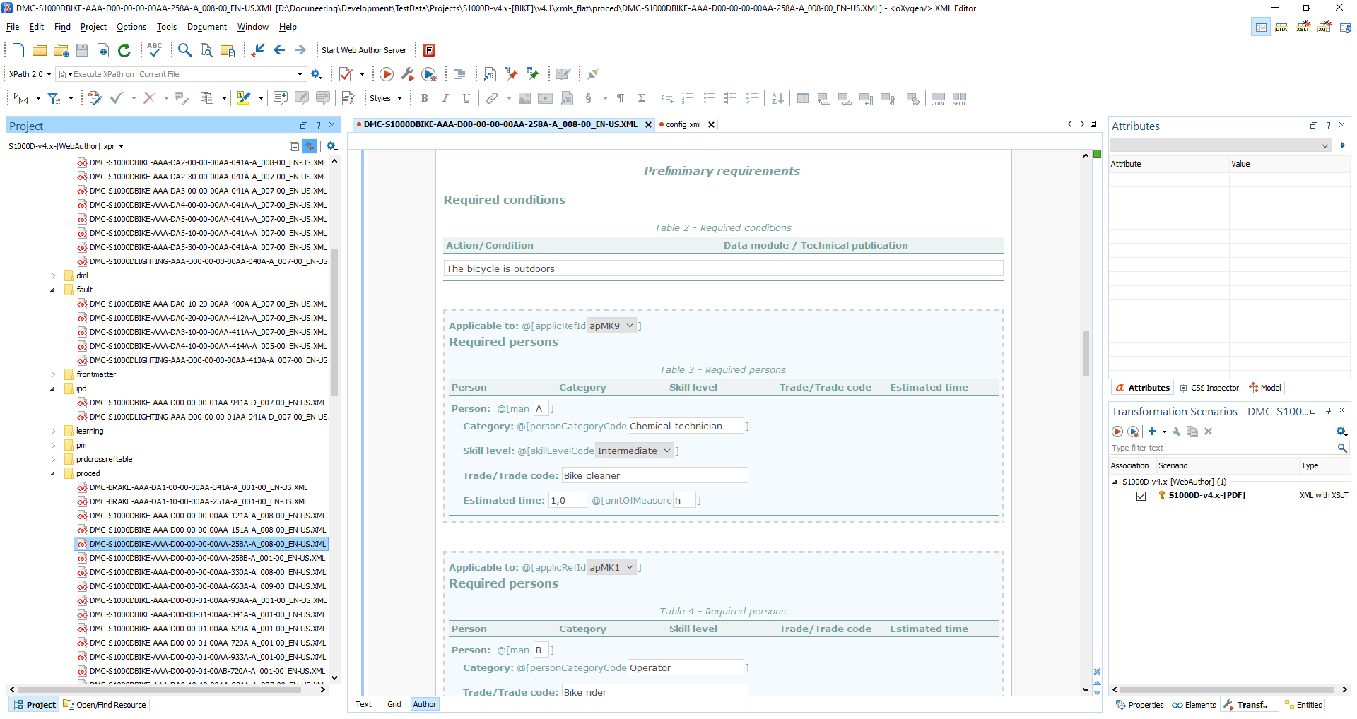 Docuneering S1000D Authoring in Oxygen XML - Preliminary requirements