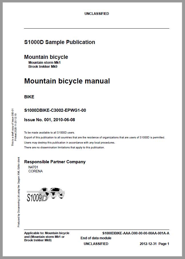S1000D Demo Publication - Demo Publication Modules - Bike